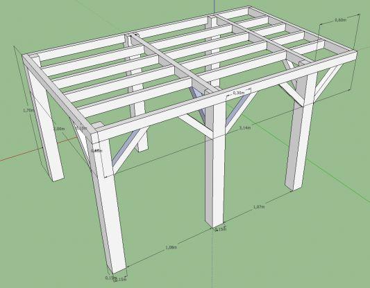 terrasse bois plan. Black Bedroom Furniture Sets. Home Design Ideas