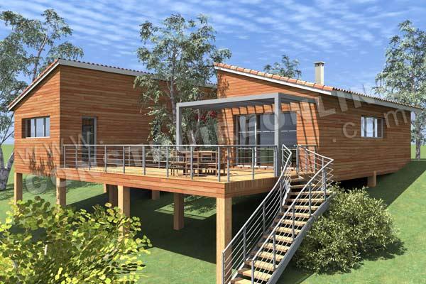Célèbre Nivrem.com = Terrasse Sur Pilotis En Bois En Kit ~ Diverses idées  LI71