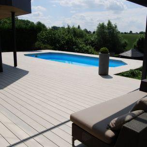 Terrasse en lame de resine nos conseils for Prix piscine resine enterree