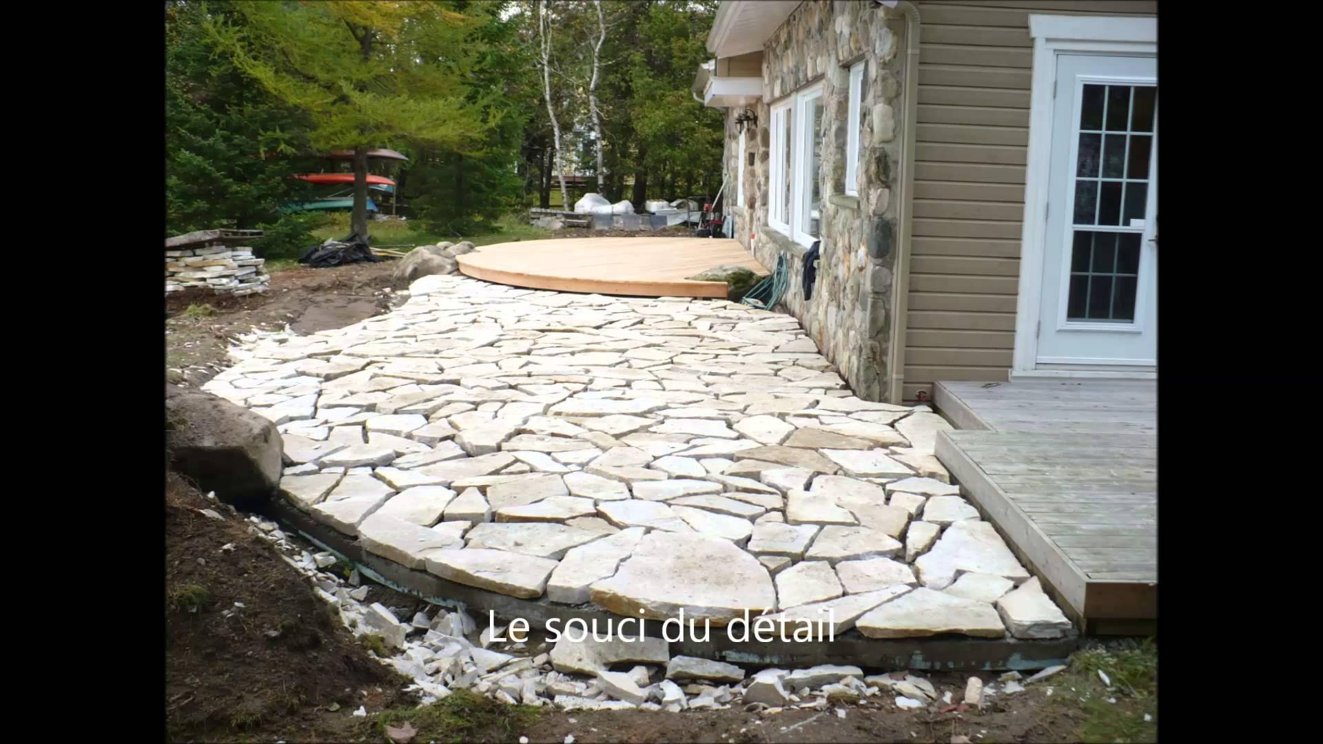 Terrasse en pierre naturelle pose nos conseils - Terrasse en pierre naturelle pose ...
