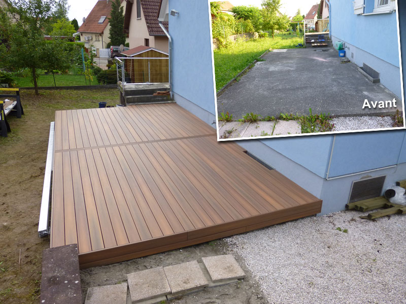 Latte terrasse composite beautiful les with latte - Latte pour terrasse en composite ...