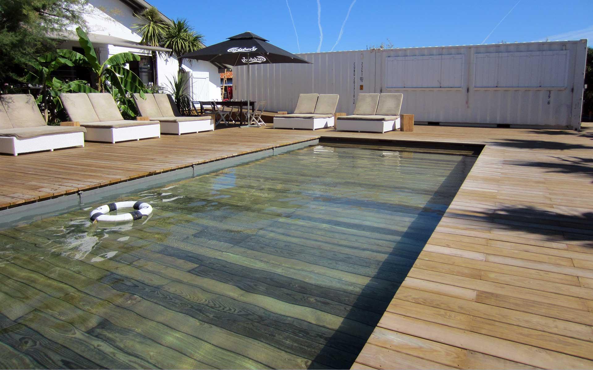 Terrasse fond piscine nos conseils for Piscine escamotable