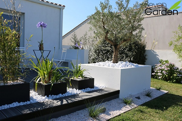 Terrasse galets blancs - Nos Conseils