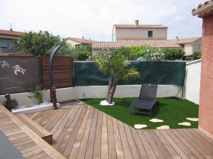 Terrasse jardin exemple nos conseils for Jardin avec terrasse