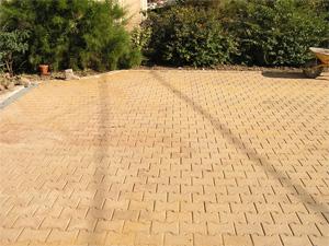 terrasse pave autobloquant sable