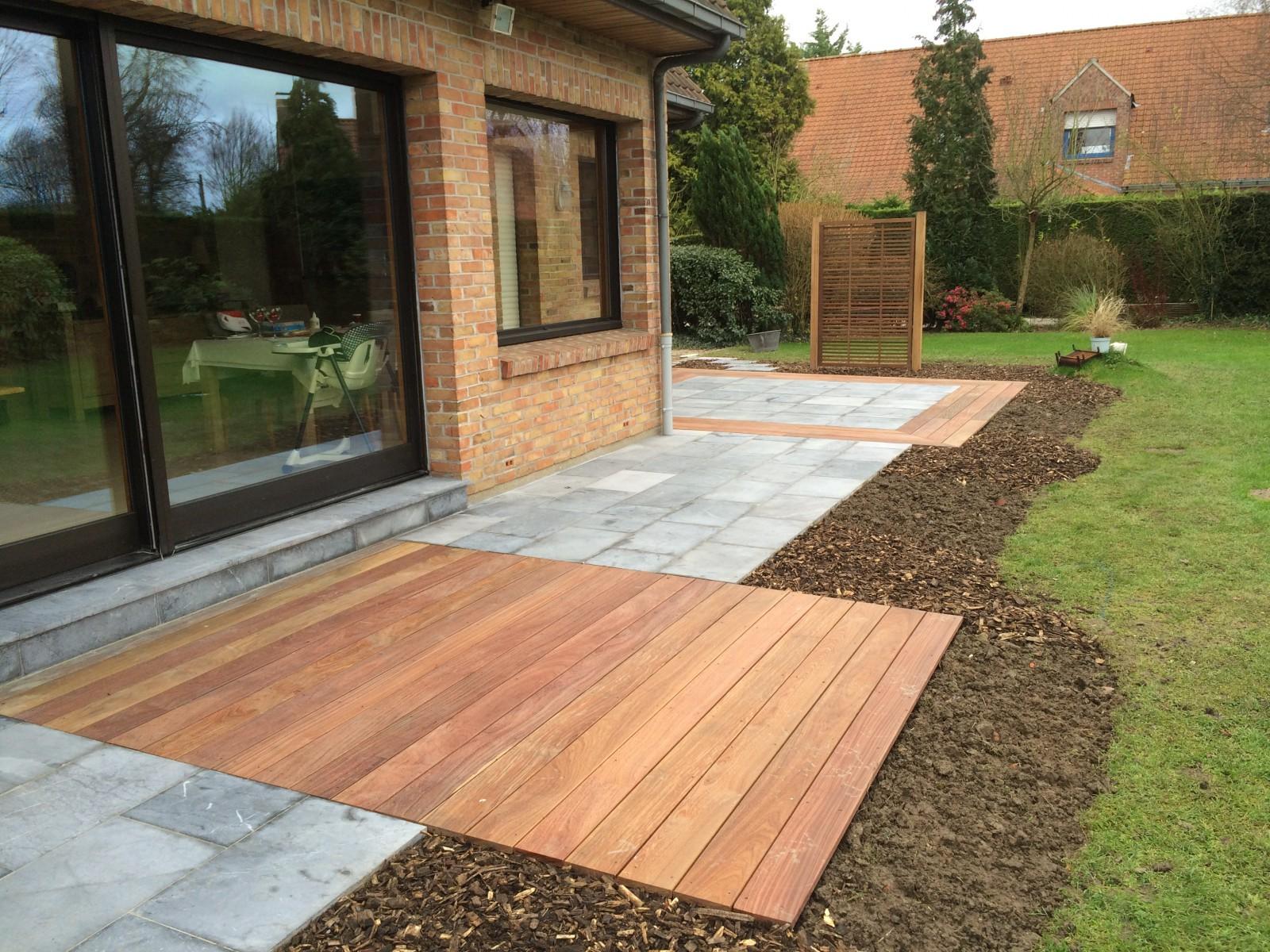 Terrasse pierre bois nos conseils for Objectif bois cloison japonaise