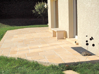 terrasse pierre composite