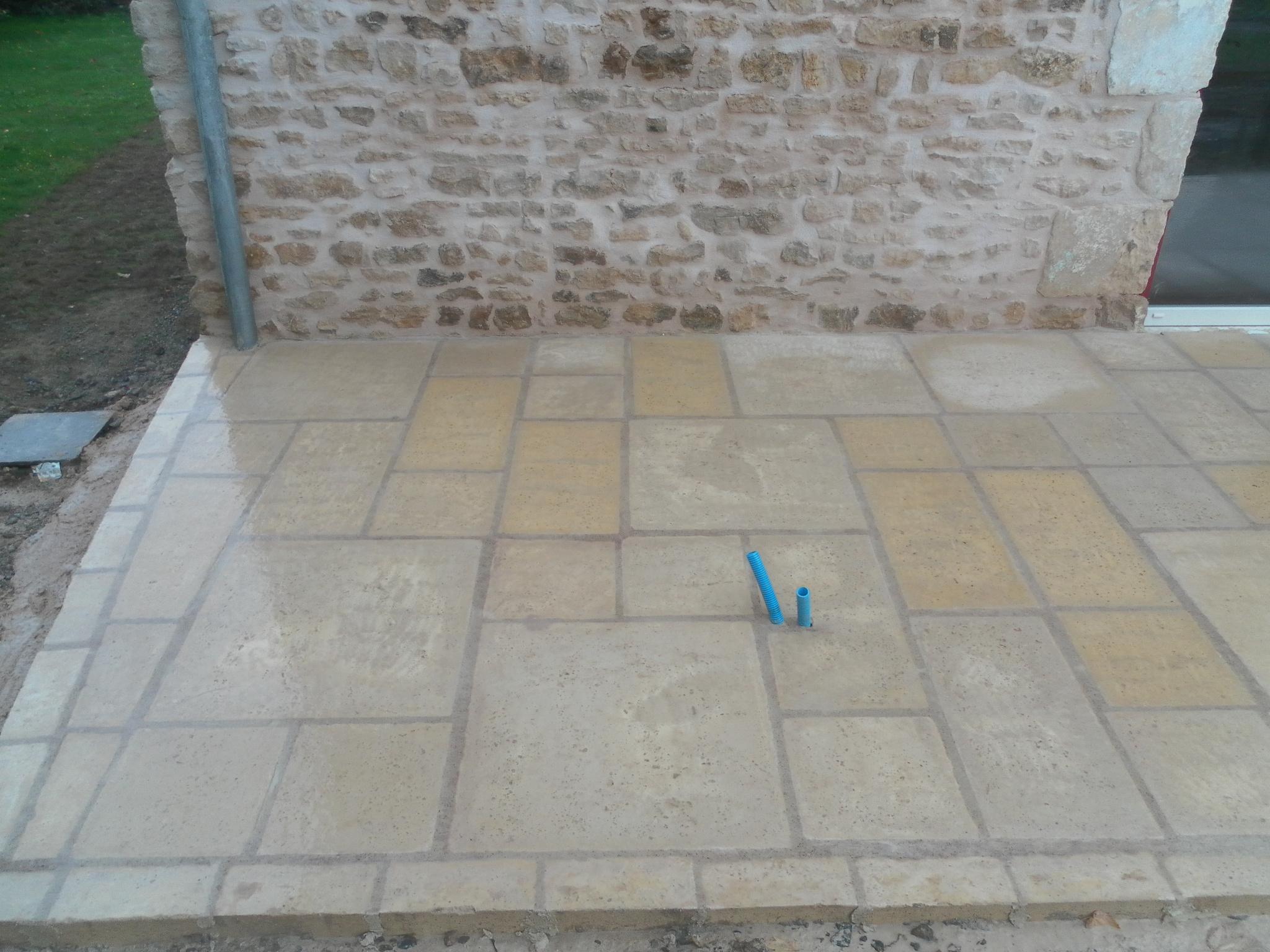 Terrasse pierre reconstituee sur sable nos conseils - Terrasse en pierre reconstituee ...