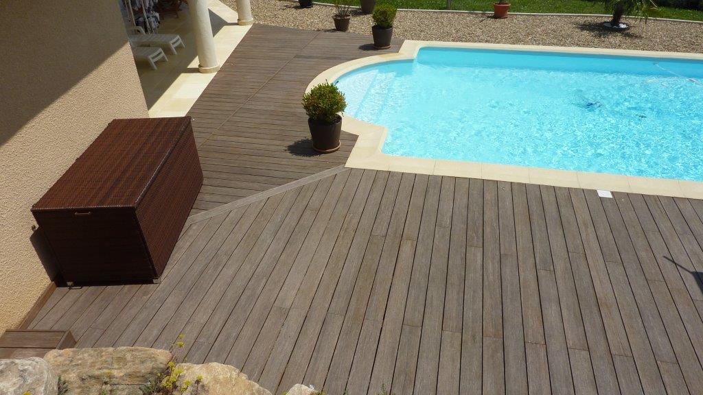 Terrasse Piscine Bambou