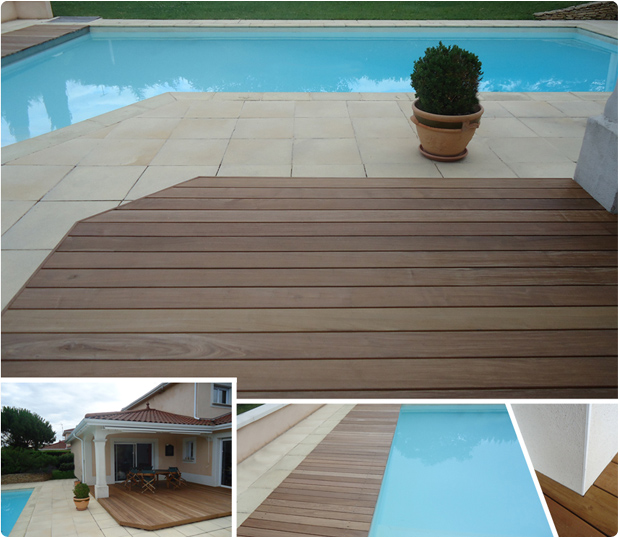 terrasse piscine carrelage et bois nos conseils. Black Bedroom Furniture Sets. Home Design Ideas