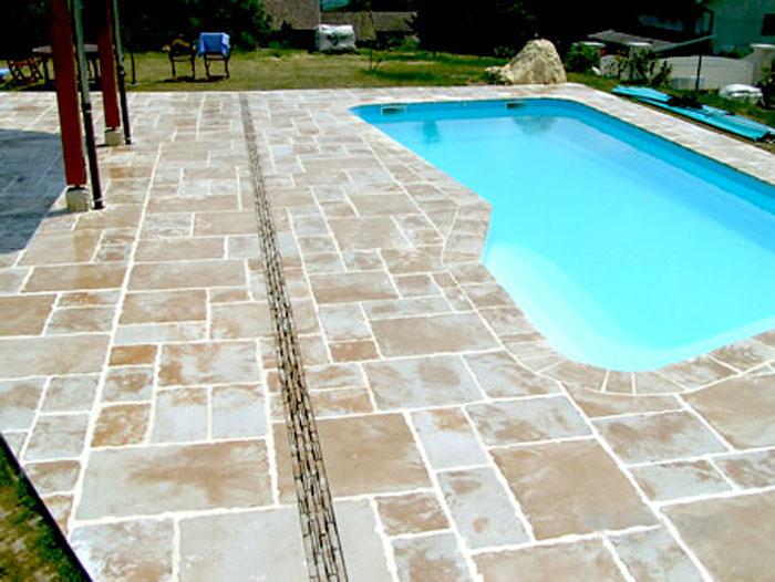 Terrasse piscine pierre naturelle nos conseils - Revetement piscine pierre naturelle ...