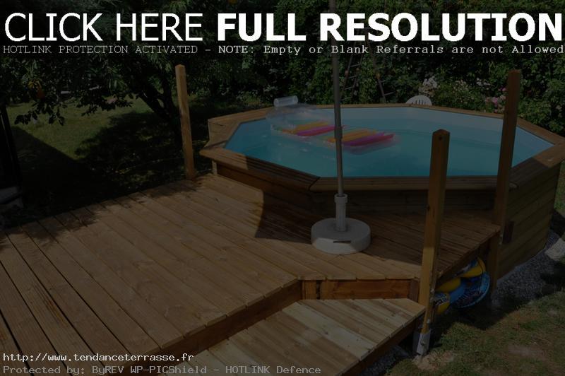 Terrasse pour piscine hors sol