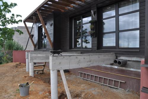 comment faire une terrasse en beton. rutilisez vos cendres de bois ... - Comment Construire Une Terrasse En Beton