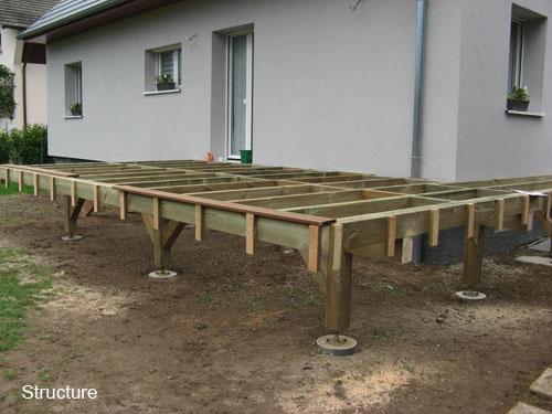 Terrasse sur pilotis en bois composite - Nos Conseils