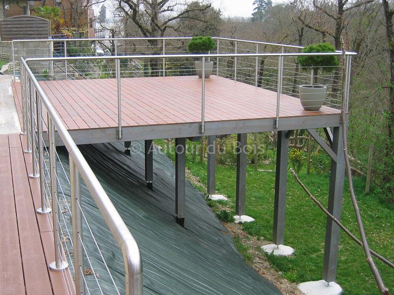 ordinaire terrasse sur pilotis en kit prix