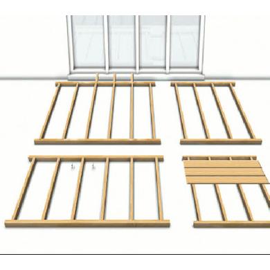 terrasse sur pilotis lapeyre nos conseils. Black Bedroom Furniture Sets. Home Design Ideas