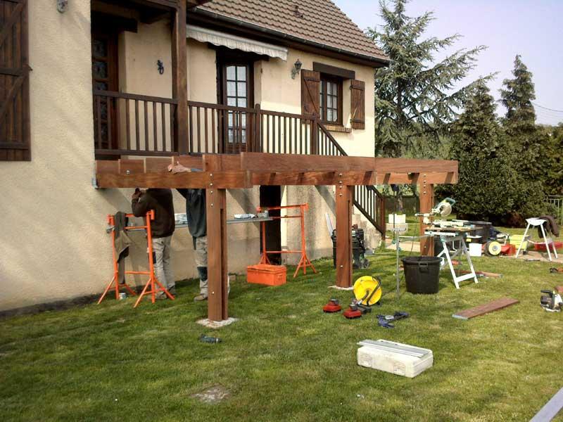 Terrasse sur pilotis normandie nos conseils for Fabriquer une terrasse en bois sur pilotis