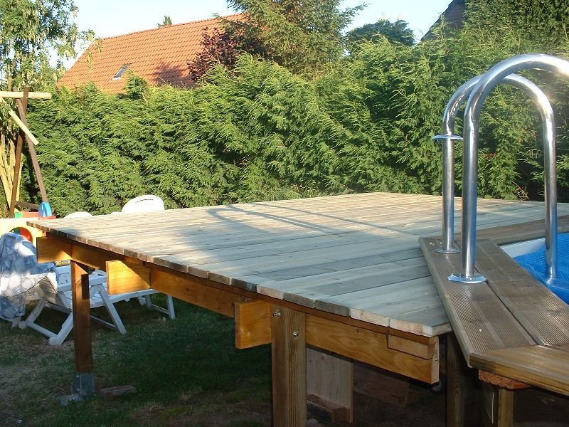 Terrasse surelevee piscine hors sol nos conseils - Terrasse bois piscine hors sol ...